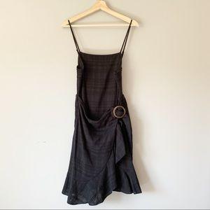 American Eagle Black Wrap Dress Tie Waist Tank